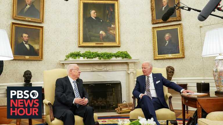 WATCH: Biden meets with Israel's outgoing president