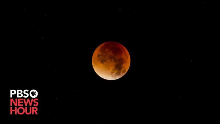 WATCH LIVE: Red blood 'supermoon' lunar eclipse