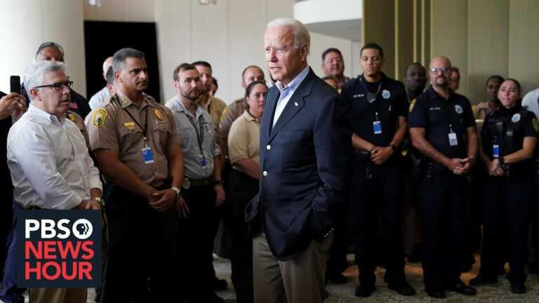 News Wrap: Biden meets with victim's families as rescue crews halt Surfside operations