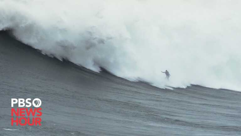 How big waves are helping this female surfer overcome her biggest fears