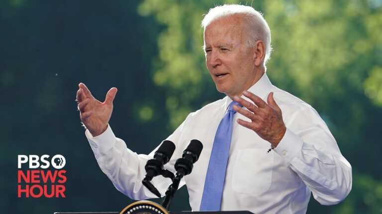 WATCH: NewsHour's Yamiche Alcindor asks Biden if he gave Putin ultimatums on Russian meddling