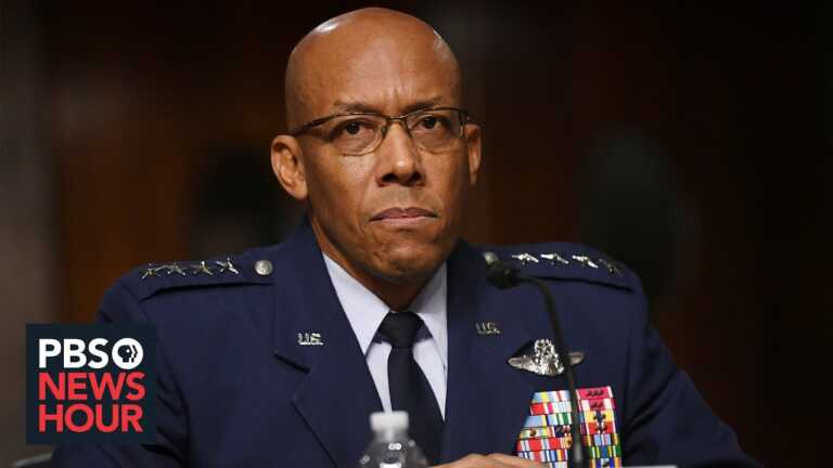Gen. Brown on extremism in the Air Force and threats from China, Afghanistan