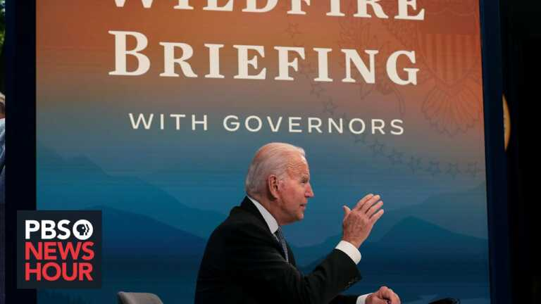 WATCH: Biden hosts briefing on wildfires with western governors