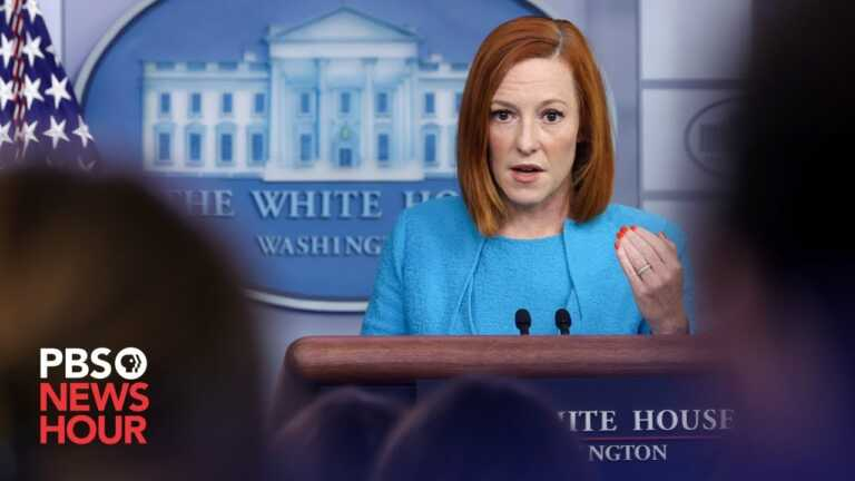 WATCH LIVE: Jen Psaki gives White House news briefing
