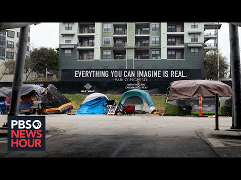 Texas' homeless struggle as public camping is criminalized