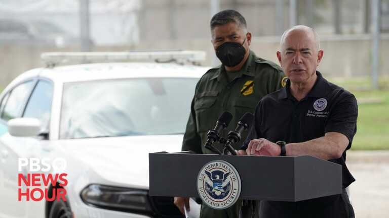 WATCH: DHS Secretary Alejandro Mayorkas holds briefing at U.S.-Mexico border