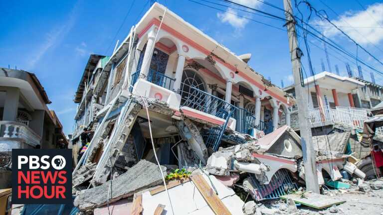 Haitians left homeless by 7.2 magnitude earthquake now brace for storm