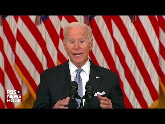 WATCH: Biden defends U.S. exit from Afghanistan