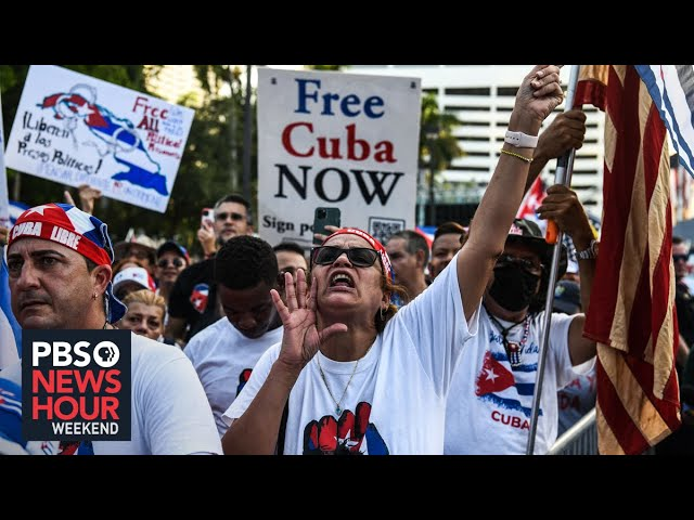 'We are with you:' Cuban protests find youth allies in Little Havana, Miami