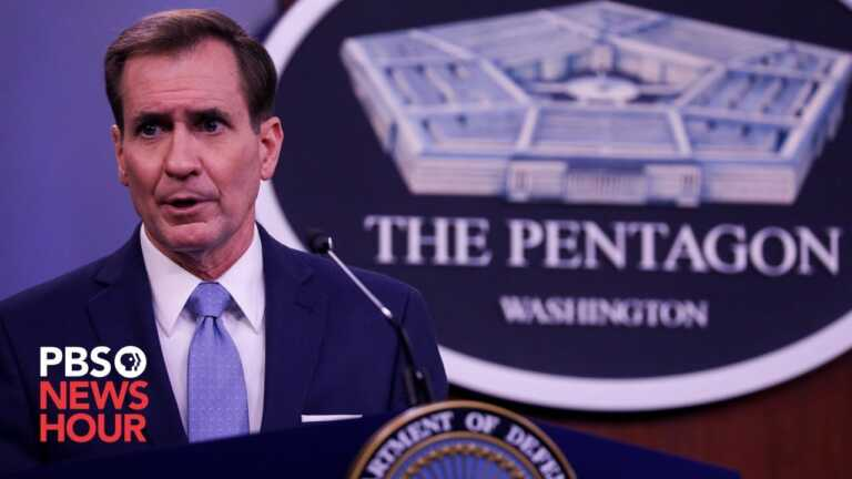 WATCH LIVE: Pentagon spokesperson John Kirby holds a briefing