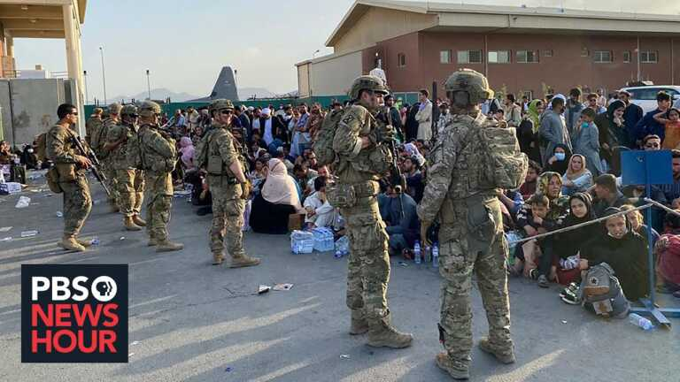 Thousands of Afghans can't access the airport. Those who can recall Taliban threats, abuse