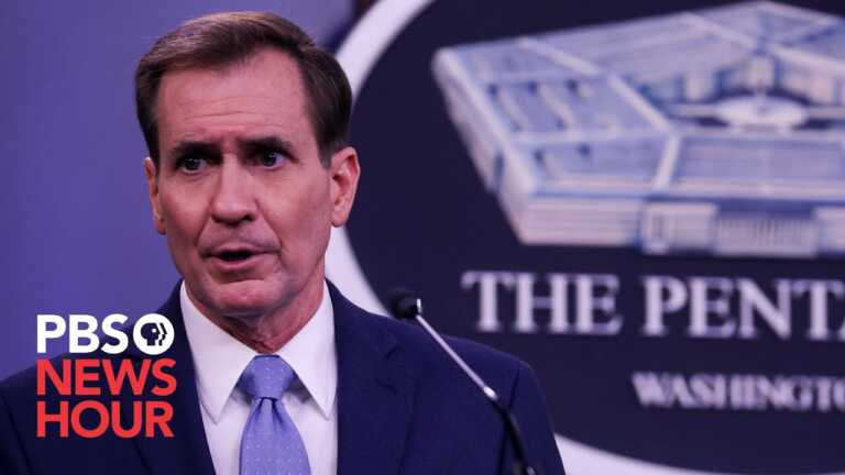 WATCH LIVE: Pentagon spokesperson John Kirby holds briefing amid ongoing Afghanistan situation