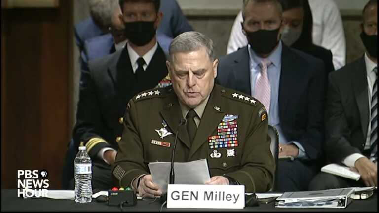WATCH: Gen. Milley explains his calls with China over concerns about President Trump