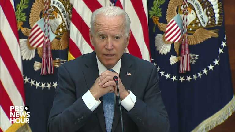 WATCH: Biden meets with business leaders on COVID vaccine mandates