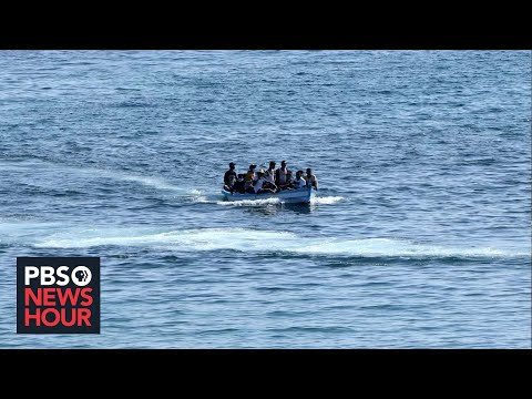Tensions rise in Lampedusa, a small Italian island, over swell of economic migrants