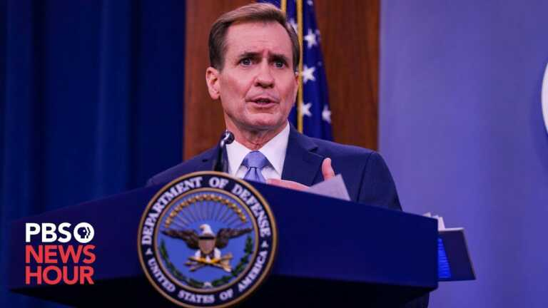 WATCH: Pentagon holds briefing as U.S. helps with Afghan refugee resettlement