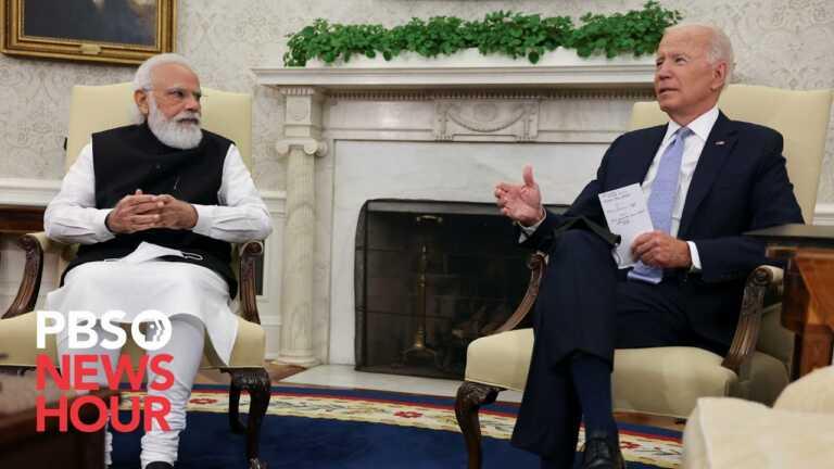 WATCH: Biden hosts India PM Modi at White House