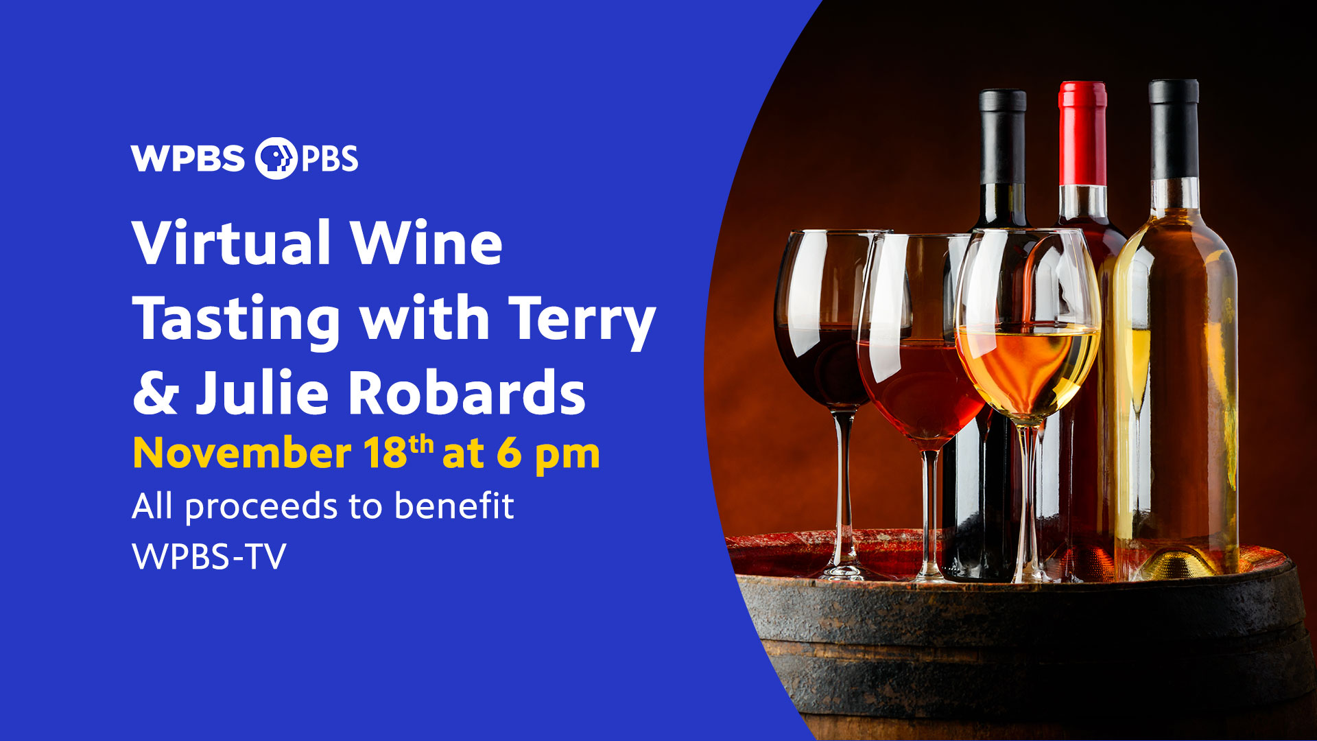Virtual Wine Tasting with Terry and Julie Robards Header Image