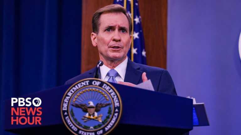WATCH: Pentagon Spokesperson John Kirby holds a briefing with Gen. VanHerck, U.S. Northern Command