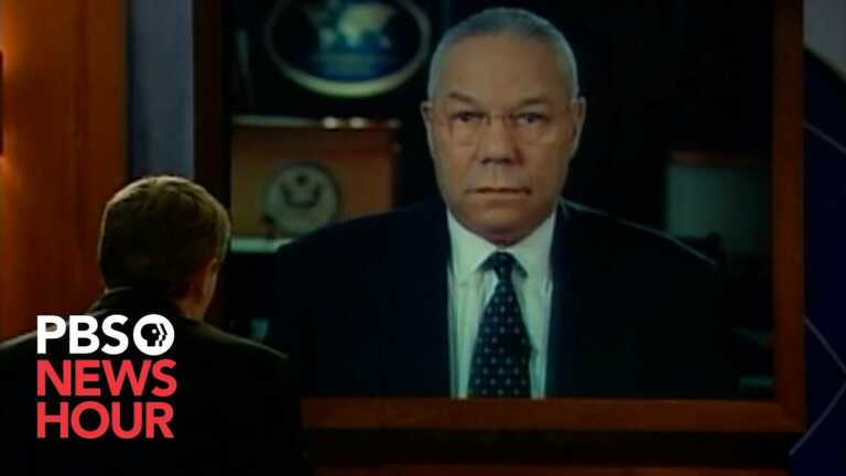WATCH: Jim Lehrer's 2005 interview with Colin Powell on Iraq and stability in the region