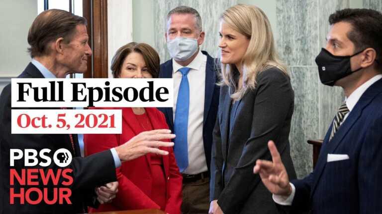 PBS NewsHour live episode, Oct. 5, 2021