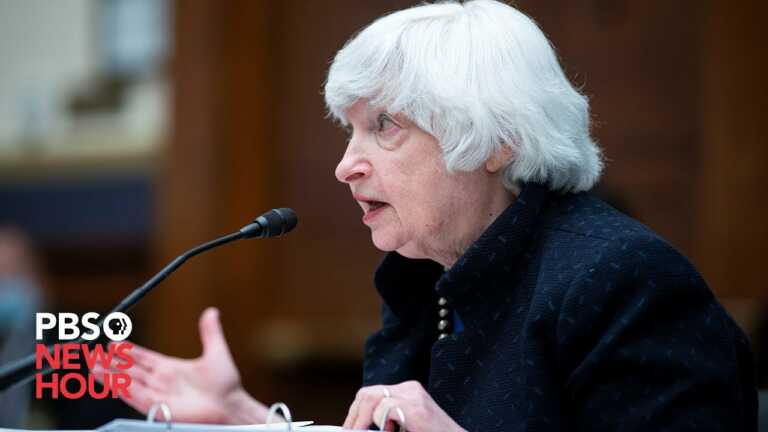 WATCH: Treasury Secretary Yellen speaks to business leaders about possible financial crisis