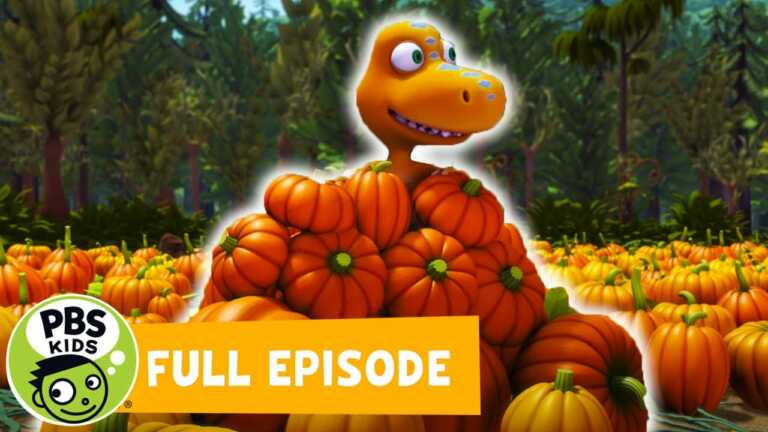 Dinosaur Train FULL EPISODE | Haunted Roundhouse / Big Pond Pumpkin Patch 🎃 | PBS KIDS